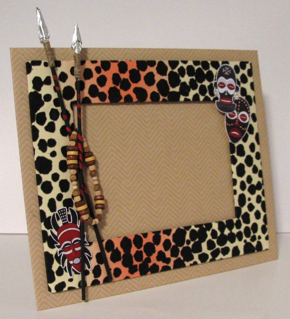 Леопардовая рамка своими руками