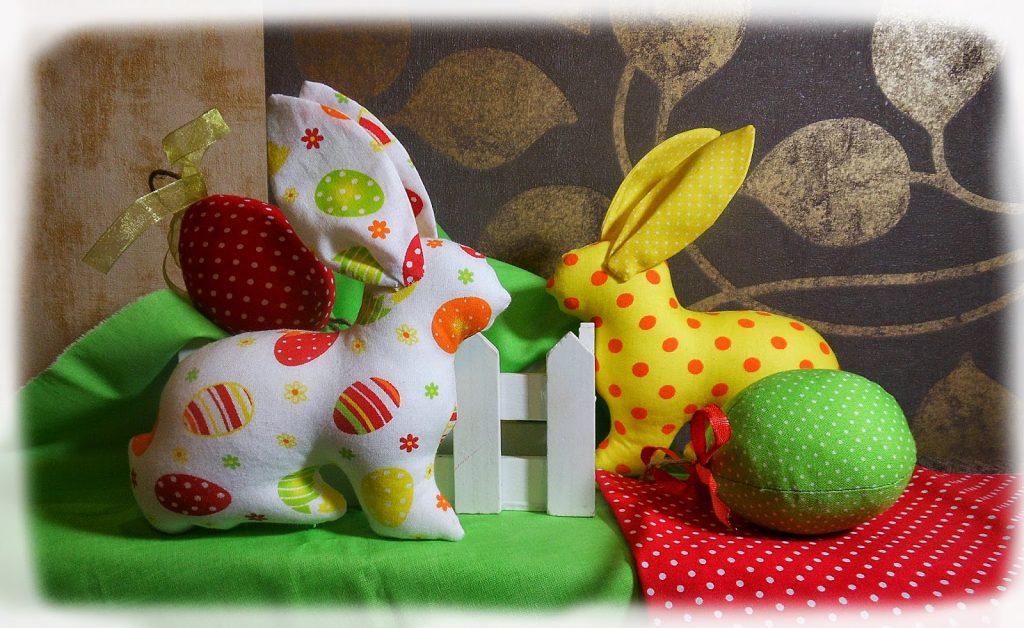 Поделка к пасхе кролики
