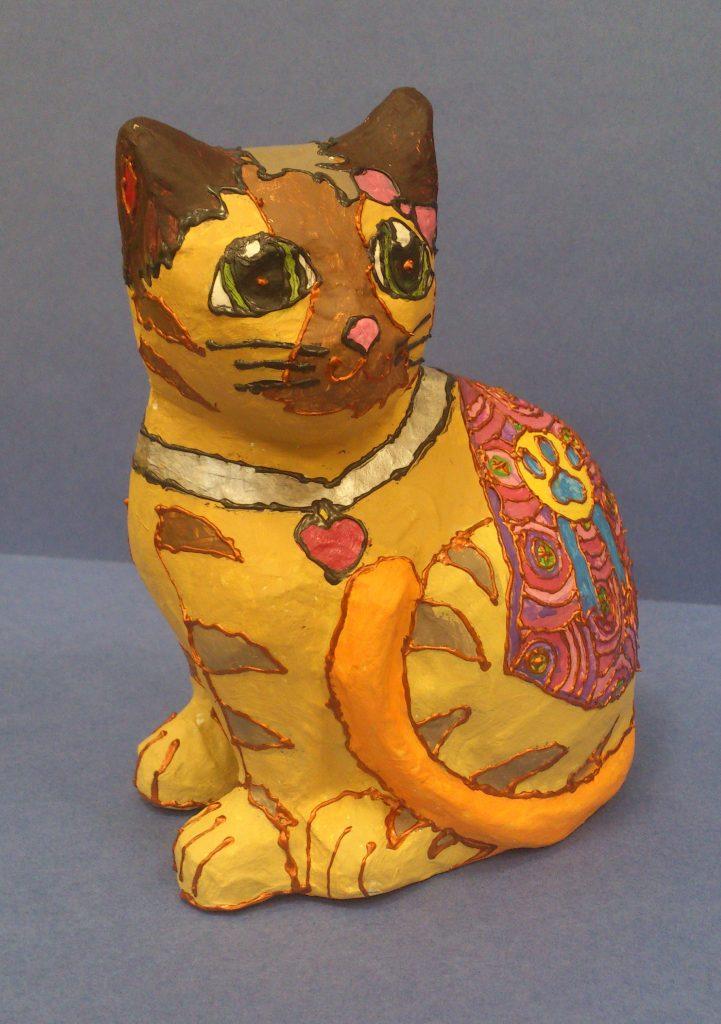 Кошка в стиле папье маше