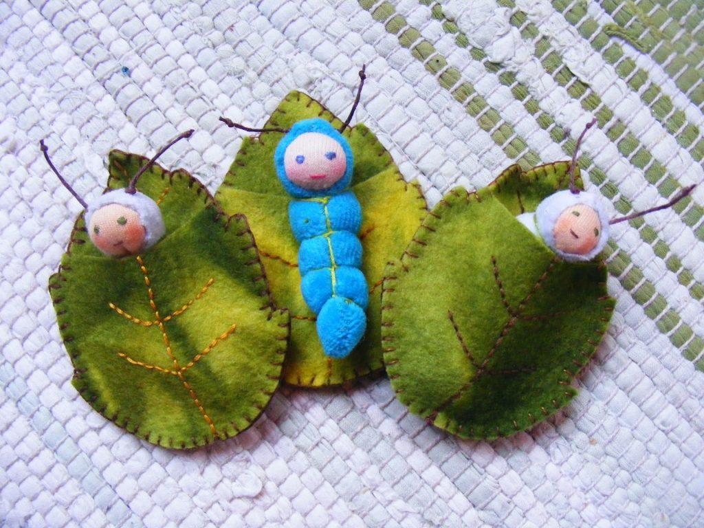 Кокон бабочки из фетра