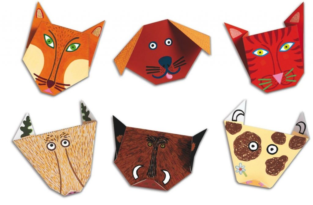 Фигуры в стиле оригами животные