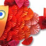 Объемная рыбка из бумаги