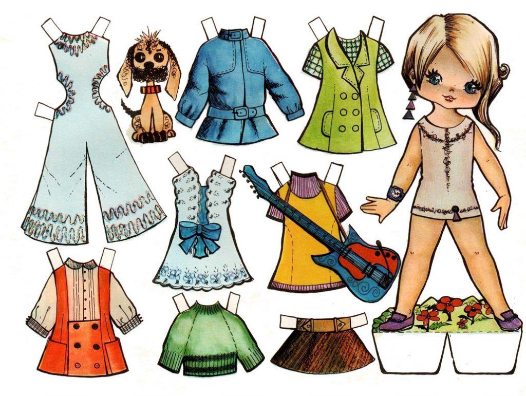 Одежда для кукол вырезайка