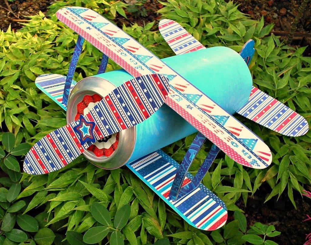 Модульная поделка самолета
