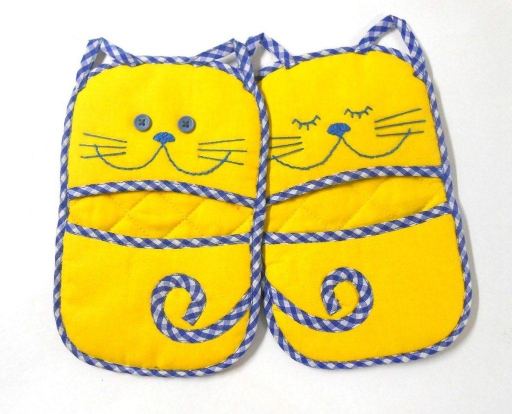 Прихватка милые кошки