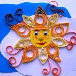 Солнце из бумаги поделка