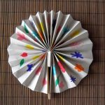 Оригами стиль веера