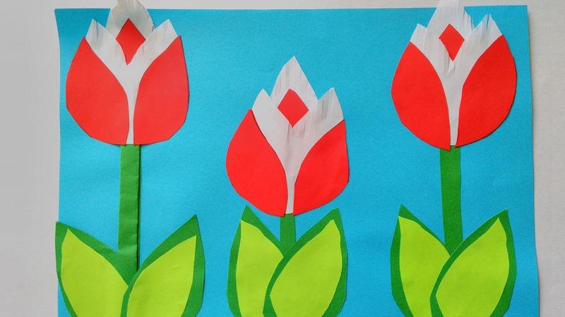 Тюльпаны на открытке
