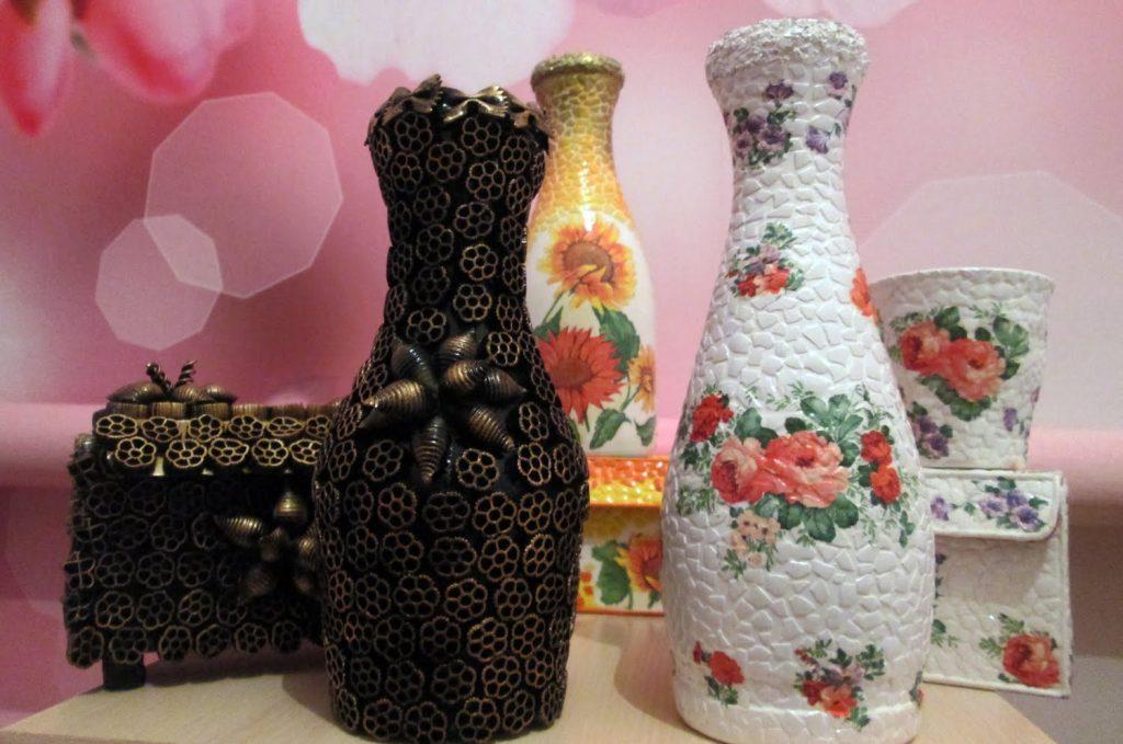 Декупаж поделка вазы