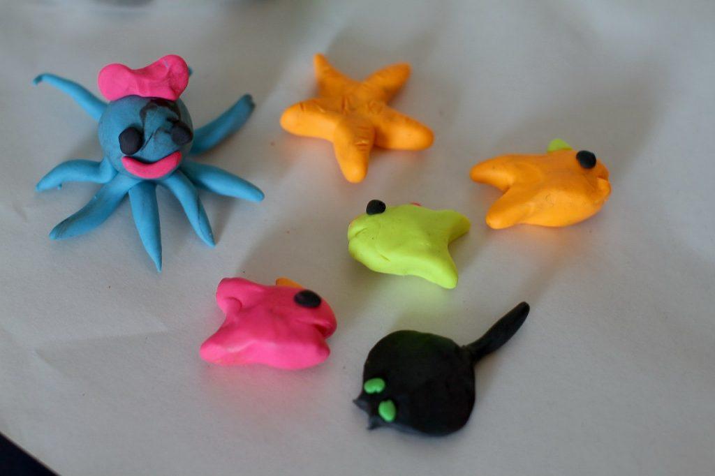 Обитатели моря из пластилина