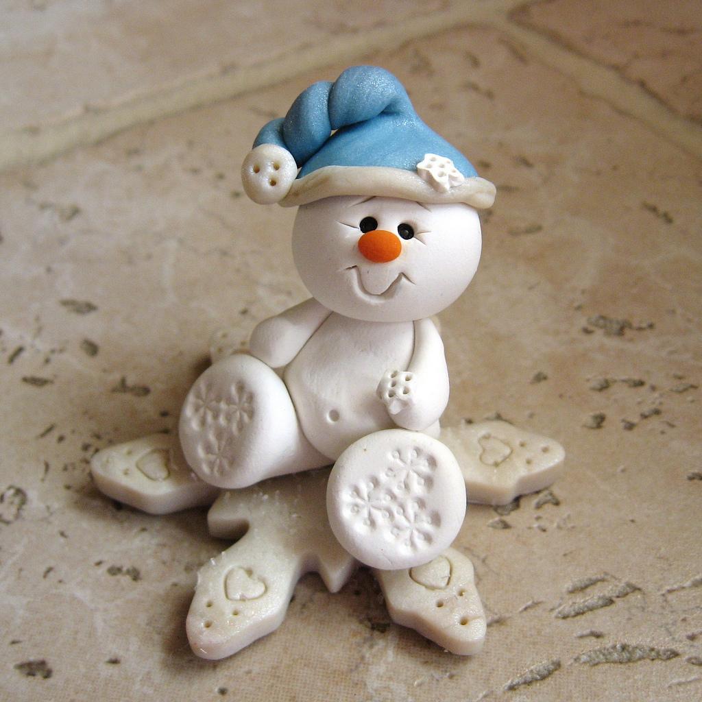 Снеговик из теста