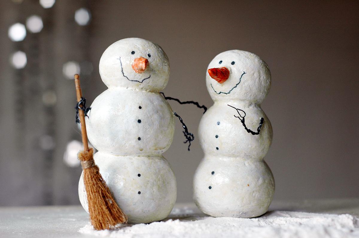 кого-то камень, поделки на новый год снеговики фото невысокую