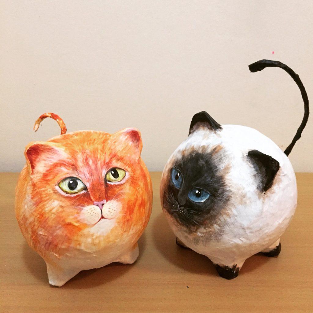 Фигура папье маше кота