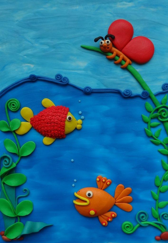 Лепка подводный мир