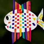 Плетенная рыба из бумаги