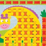 Жираф в технике плетения