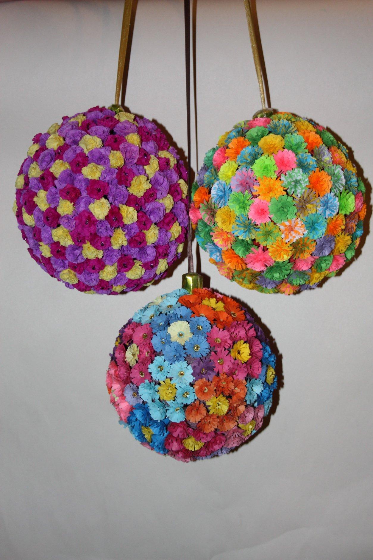 Шары из бумажных цветов