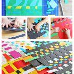 Процесс плетения из бумаги