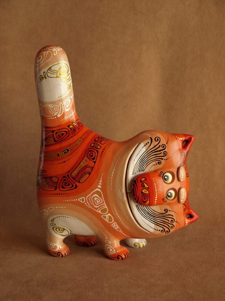 кошка поделка