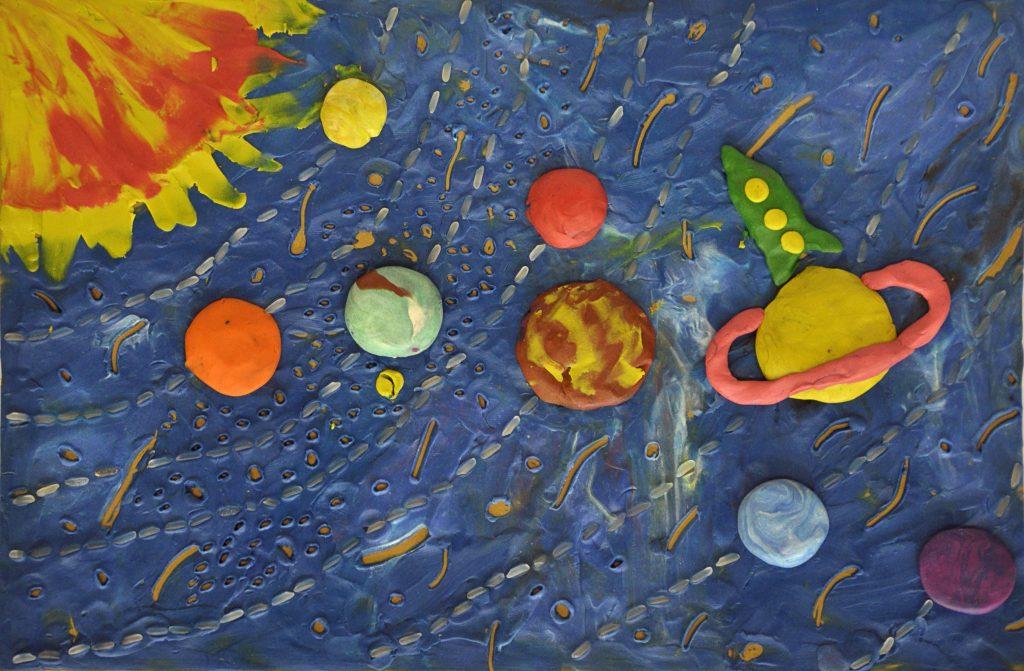 Орбита земли из пластилина