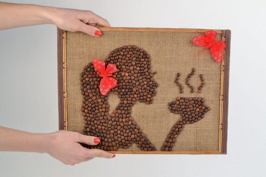Картина из зерн кофе