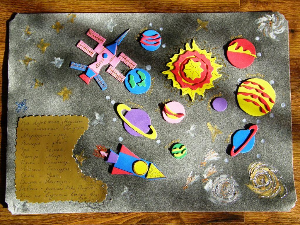 Пластилин и космос для мальчиков