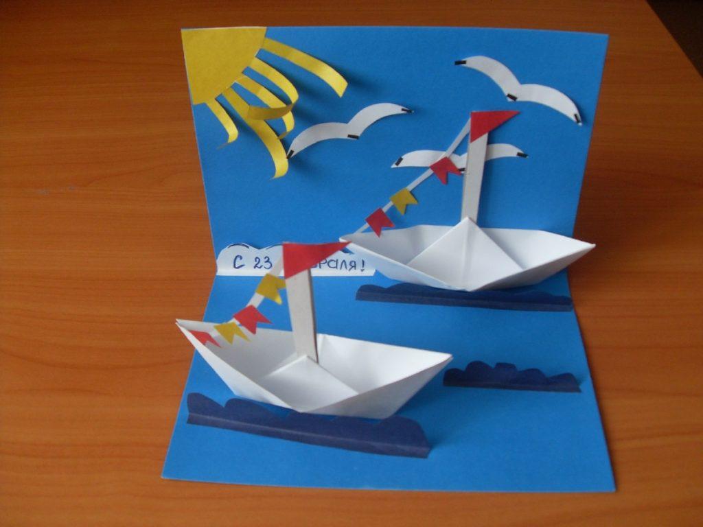Поделка корабля из бумаги и картона