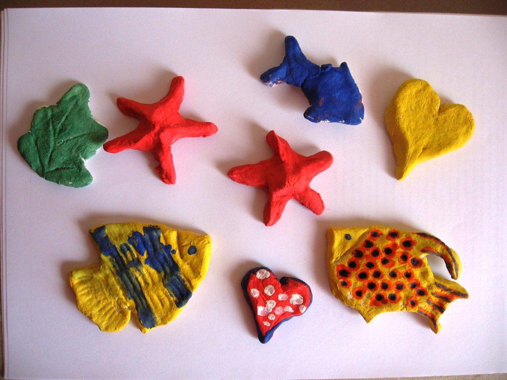 Рыбы и звезды из теста