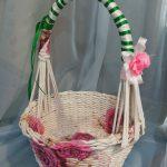 Плетенная корзина поделка своими руками