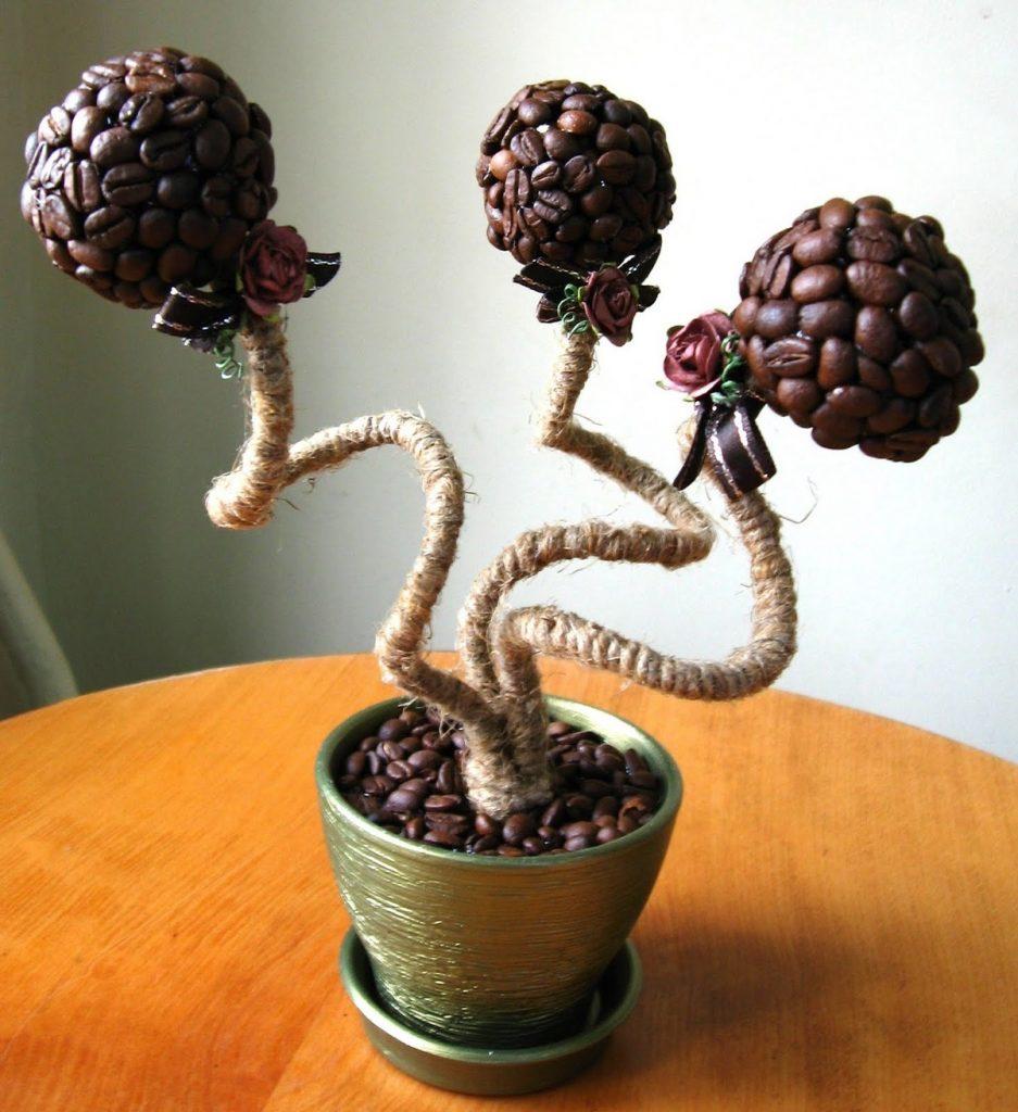 Дерево любви из кофе