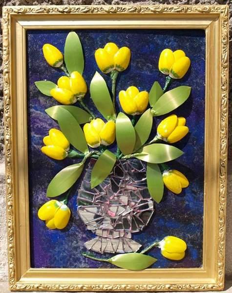 Картина из тюльпанов