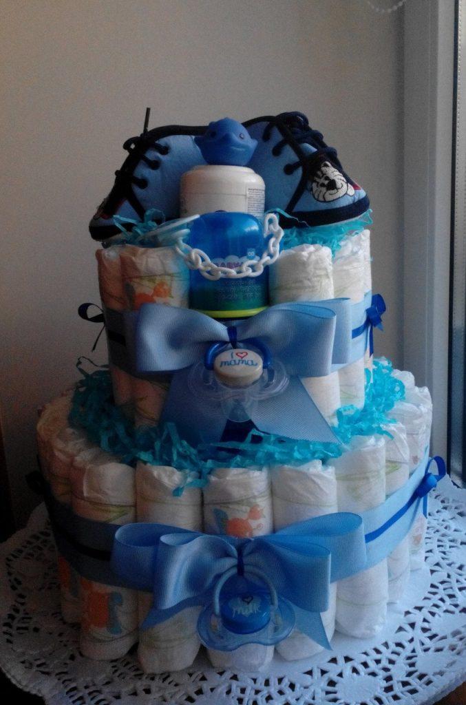 Памперсы торт мальчику