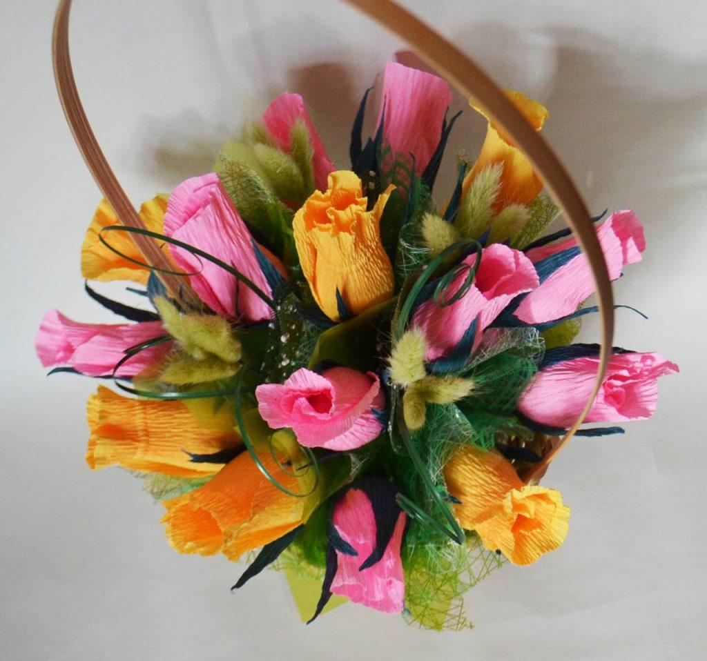 Корзина с вкусными цветами