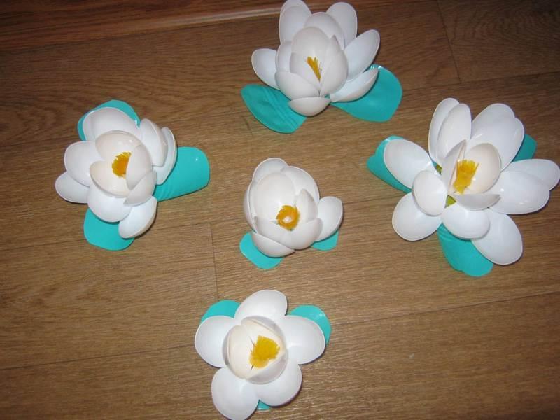 Тюльпаны поделка из пластика