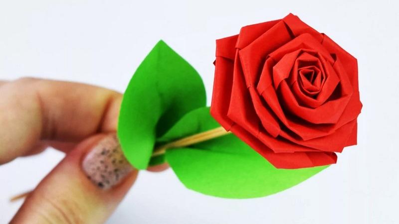 Красивая роза поделка