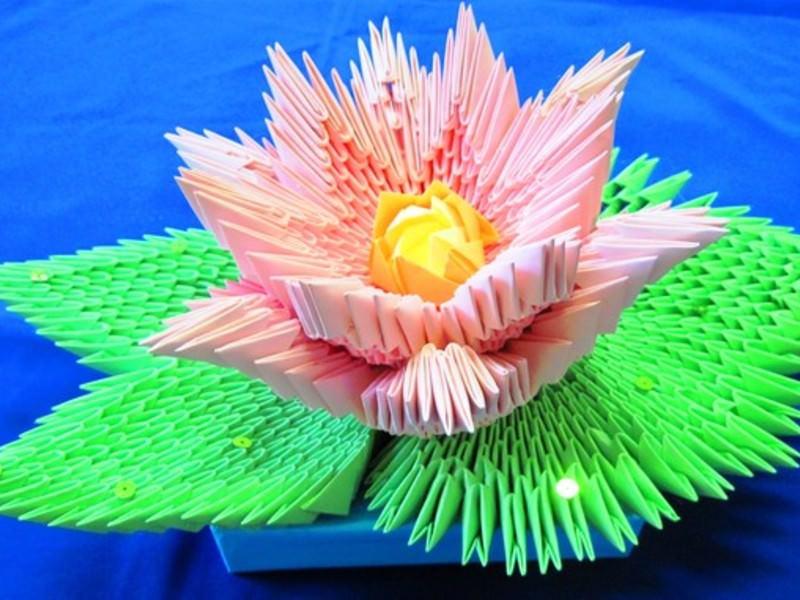 Модульное оригами на фото