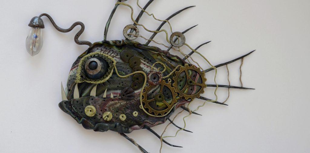 Рыба меч папье маше