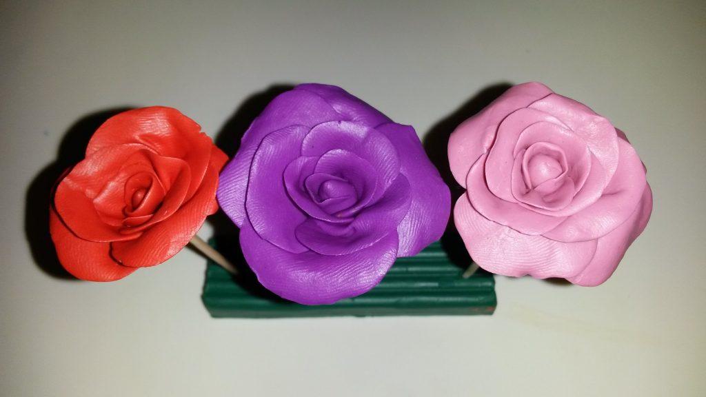 Лепка роз пример