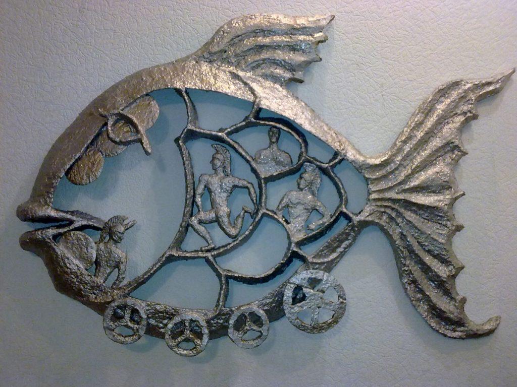 Рыбка в стиле папье маше