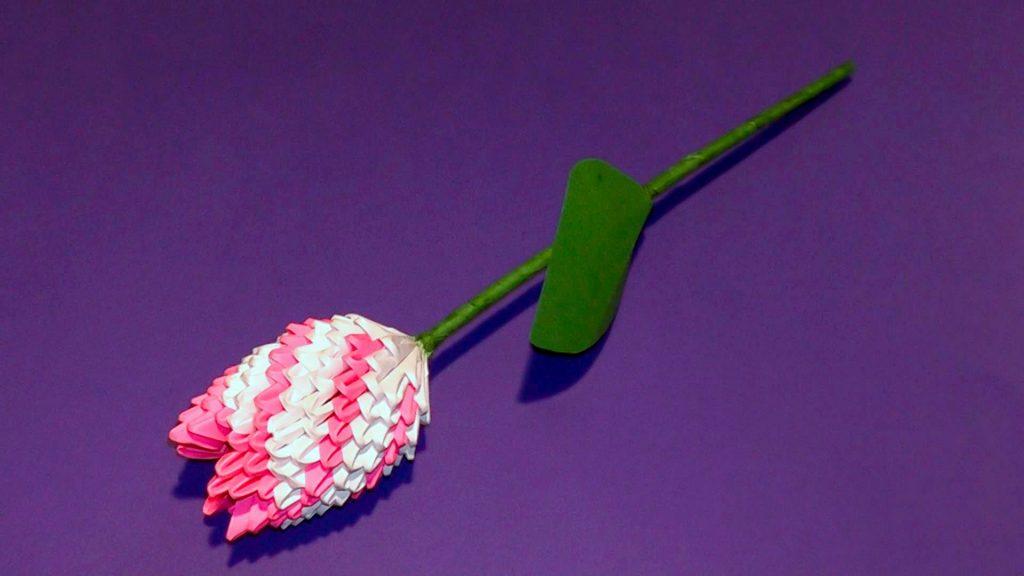 Роза поделка-оригами