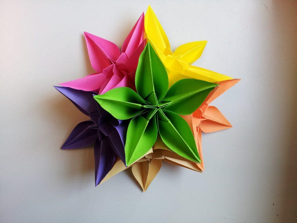 Звезда в форме оригами