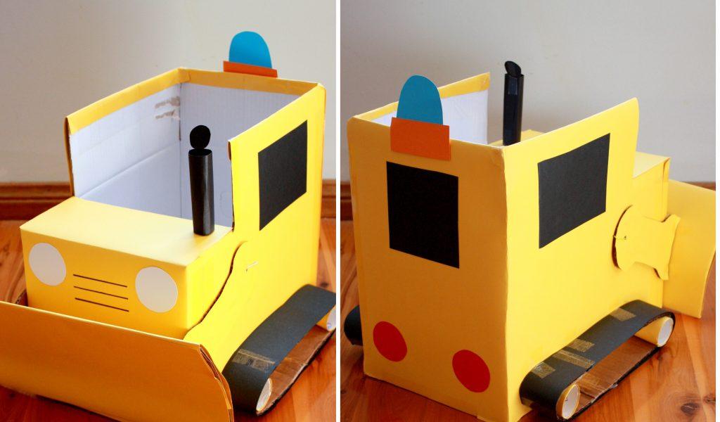 Пример машины из картона