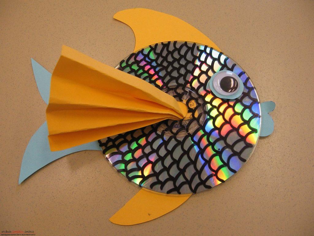 Рыба с чешуйками из диска