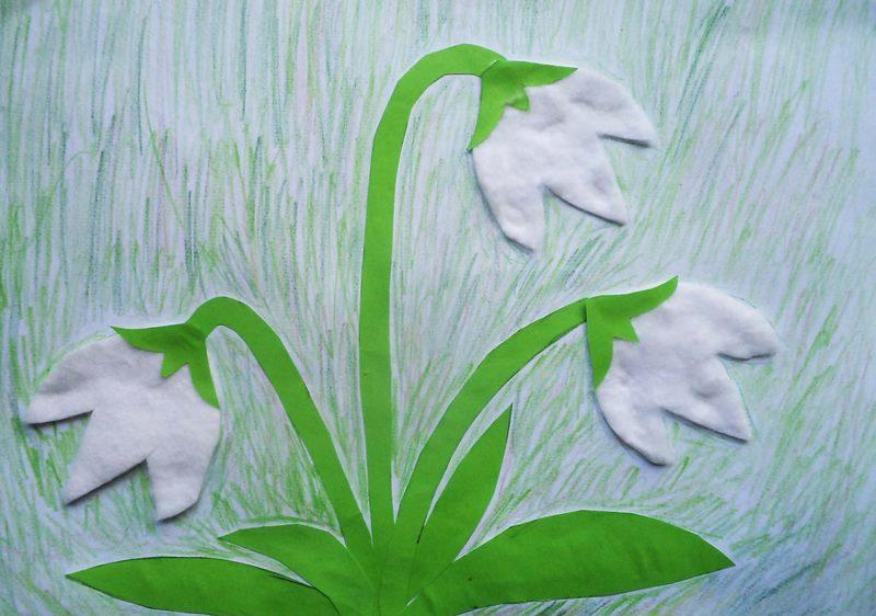 Тюльпаны поделка из ваты