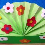 Веер из цветной бумаги