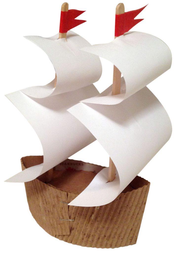Корабль с мачтой поделка