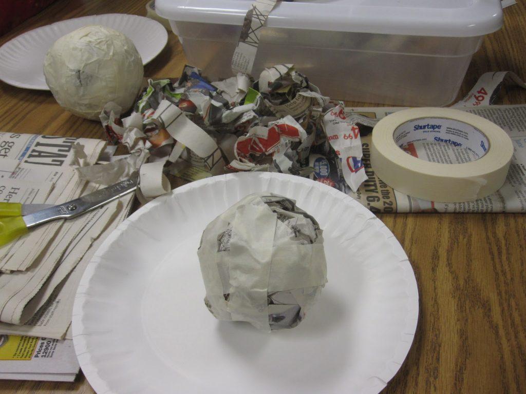 Процесс изготовления папье маше