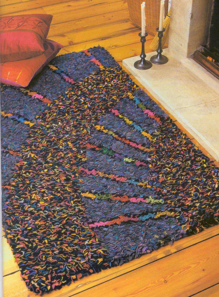 Палас от остатков ткани