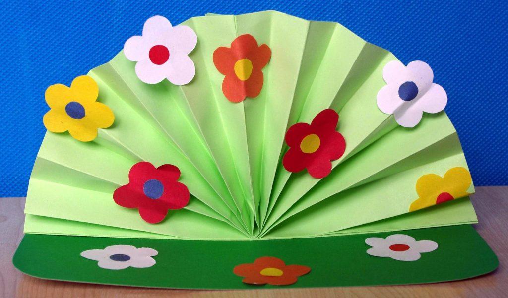 Цветочный веер подарок маме