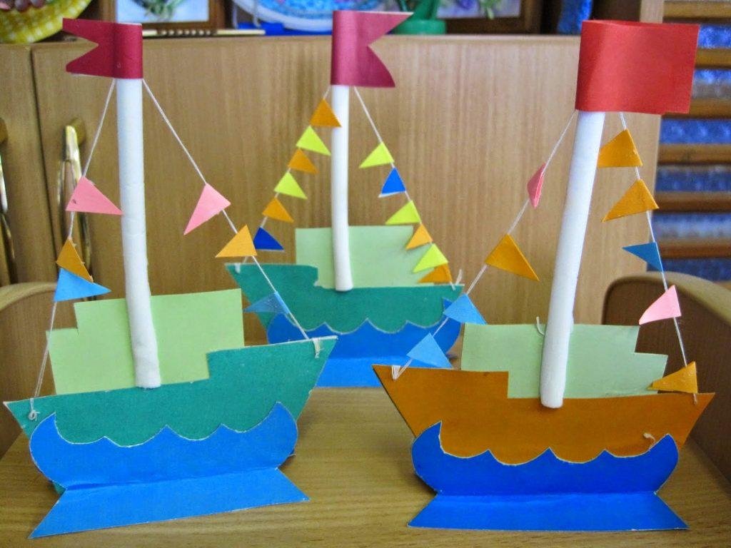 Поделки корабля из картона в садике
